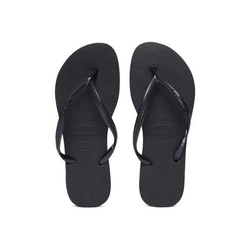 Havaianas Women Black Solid Thong Flip-Flops