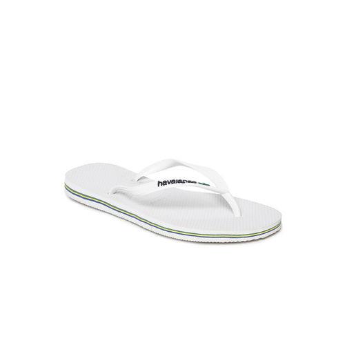 Havaianas Women White Solid Thong Flip-Flops