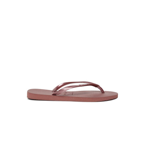 Havaianas Women Bronze-Toned Solid Thong Flip-Flops