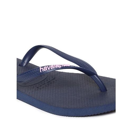 Havaianas Women Navy Blue Solid Thong Flip-Flops