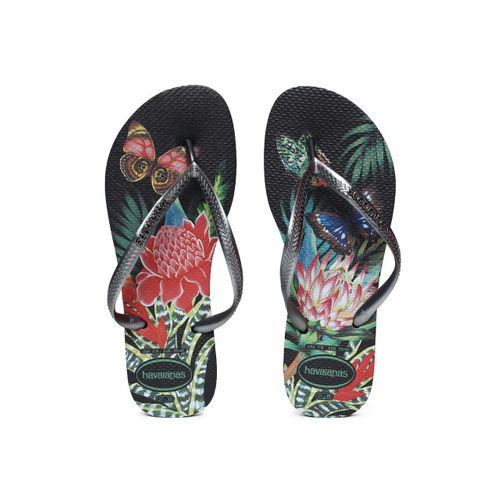 Havaianas Women Black Printed Thong Flip-Flops