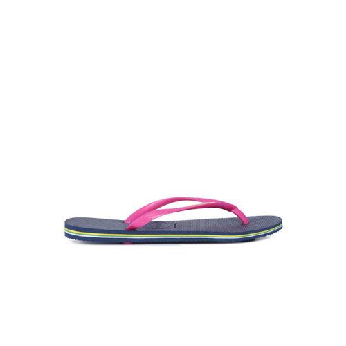 Havaianas Women Pink & Navy Blue Solid Thong Flip-Flops