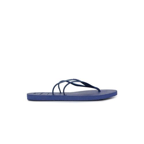 Havaianas Women Blue Solid Thong Flip-Flops