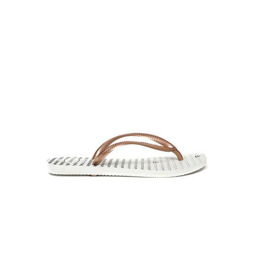 Havaianas Women Brown Solid Thong Flip-Flops