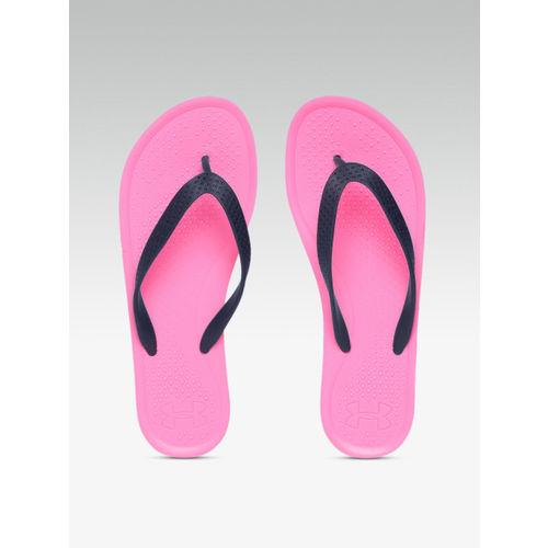 UNDER ARMOUR Women Navy & Pink AtlanticDune Thong Flip-Flops