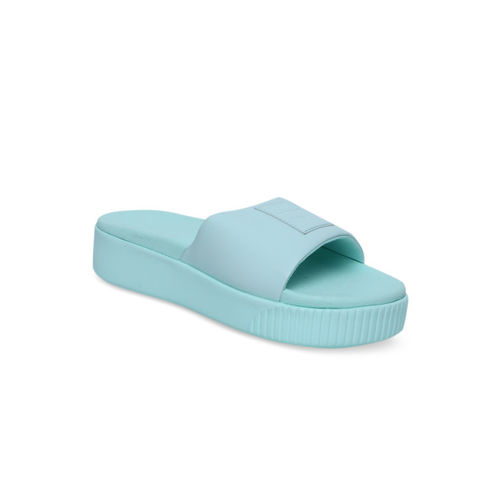 Puma Women Blue Solid Sliders