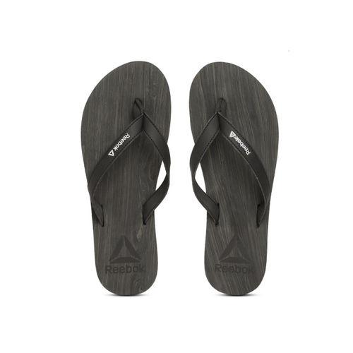 Black Printed Jane Thong Flip-Flops