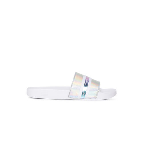 Tommy Hilfiger Women White Printed Sliders