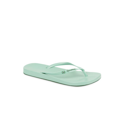 iPanema Women Green Solid Thong Flip-Flops