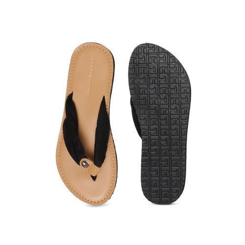 Tommy Hilfiger Women Black Solid Thong Flip-Flops