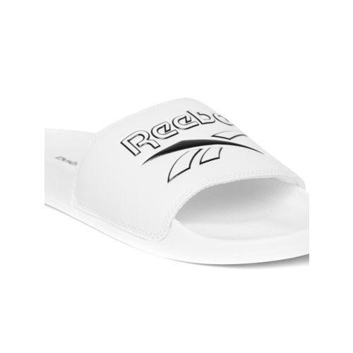 Reebok Classic Unisex White Textured Classic Sliders