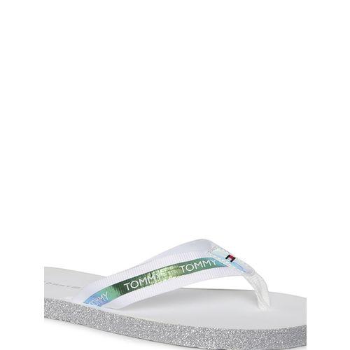 Tommy Hilfiger Women White Solid Thong Flip-Flops