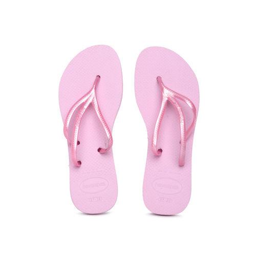 Havaianas Women Pink Solid Thong Flip-Flops