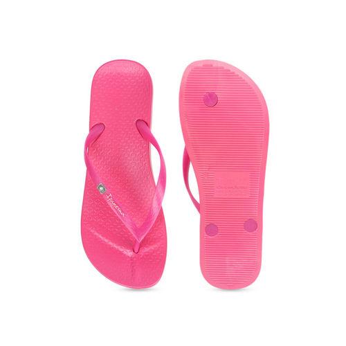 iPanema Women Pink Textured Thong Flip-Flops