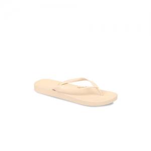 iPanema Women Beige Textured Thong Flip-Flops