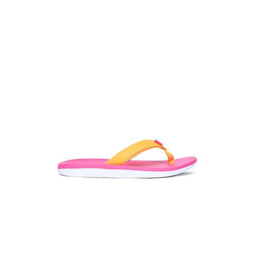 Nike Women Orange Solid BELLA KAI Thong Flip-Flops