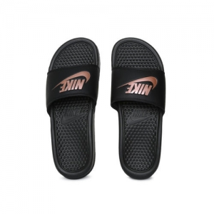 Nike Women Black BENASSI JDI Printed Sliders