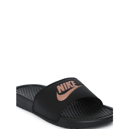 Nike Women Black BENASSI JDI Printed Sliders