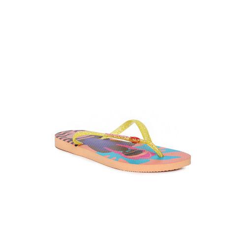 Havaianas Women Yellow Solid Thong Flip-Flops