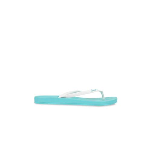 iPanema Women White & Blue Textured Thong Flip-Flops
