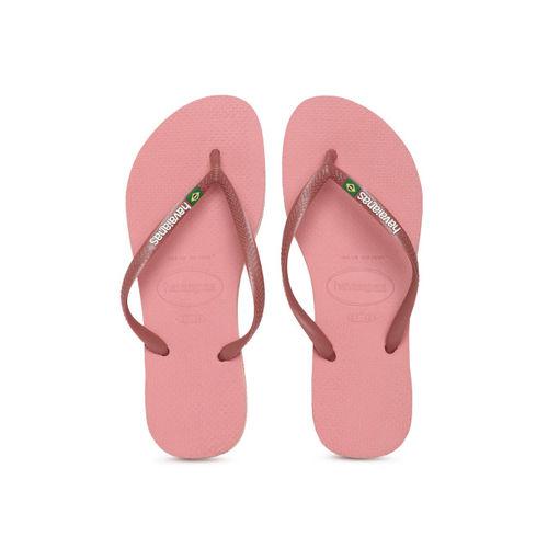 Havaianas Women Maroon Solid Thong Flip-Flops
