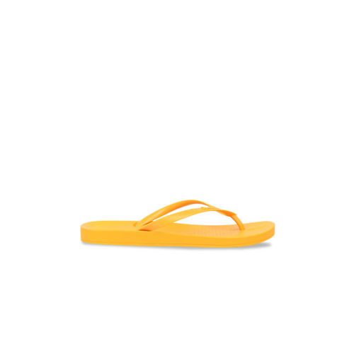 iPanema Women Yellow Textured Thong Flip-Flops