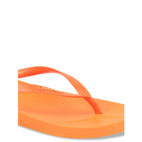 iPanema Women Orange Textured Thong Flip-Flops