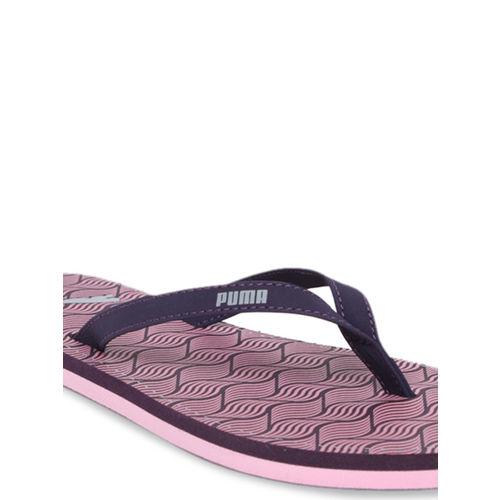 Puma Women Purple Solid Thong Flip Flops