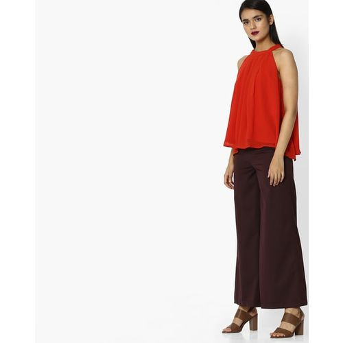 Project Eve WW Evening Pleated Halter-Neck Top