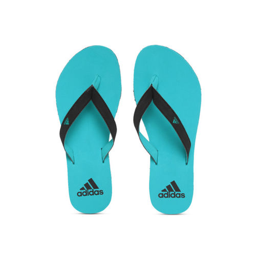 ADIDAS Women Black & Blue EEZAY 2018 Thong Flip-Flops