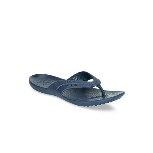 Crocs Women Navy Blue Solid Thong Flip-Flops