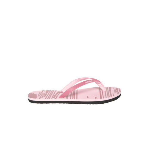 ADIDAS Women Pink JUNG Printed Thong Flip-Flops