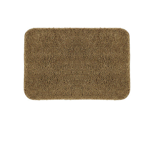 OBSESSIONS Brown Tufted Polyester Microfiber Rectangular Bath Rug