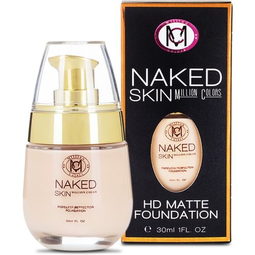 Million Colors Naked Skin HD Matte Foundation(Nude, 30 ml)
