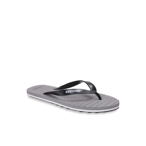 Red Chief Black & Grey Flip Flops