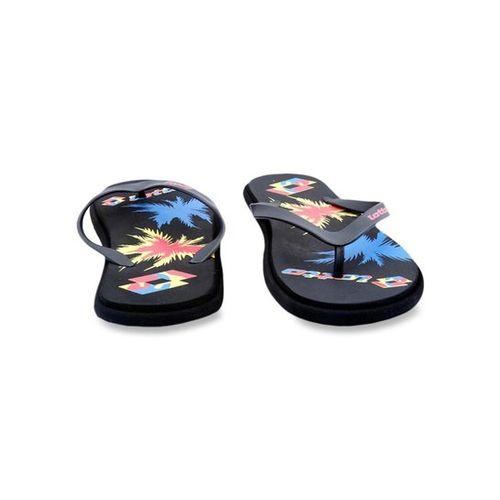 Lotto Felice Black & Blue Flip Flops