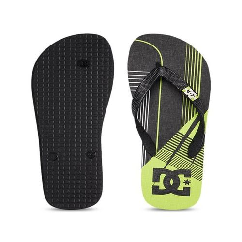 DC Spray Black & Lime Green Flip Flops