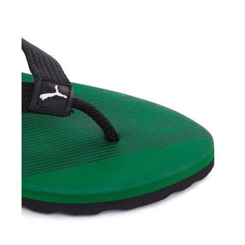 Puma Step In IDP Black & Green Flip Flops