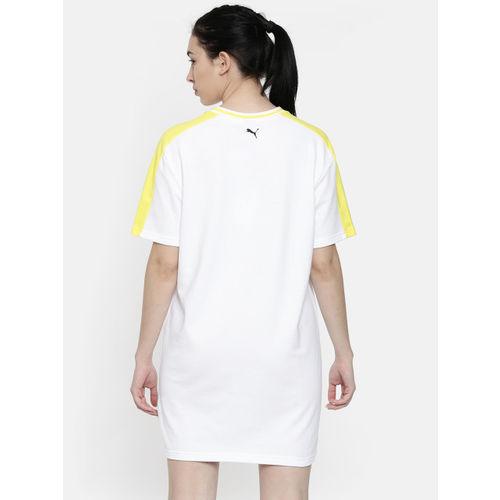 Puma Women White Printed Rebel Reload T-shirt Dress