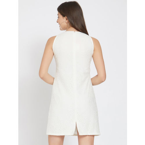 Smarty Pants Women White Solid A-Line Dress