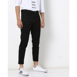 FLYING MACHINE Panelled Mid-Rise Tapered Jeans