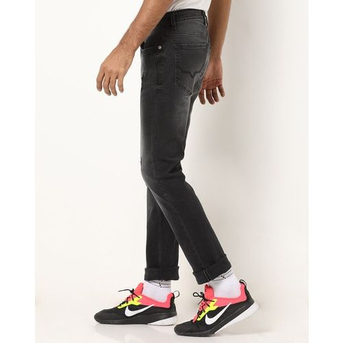 Pepe Jeans Low-Rise Washed Slim Fit Jeans