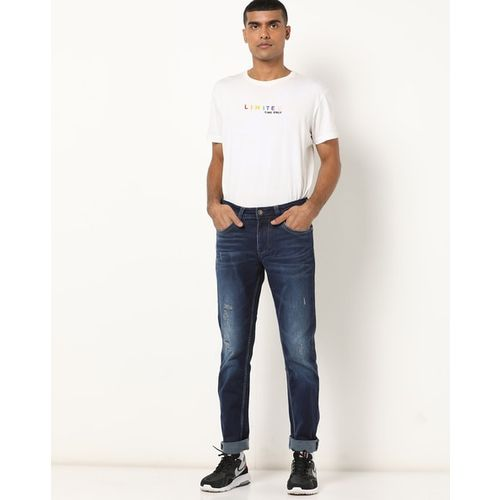 LAWMAN PG3 Washed Slim Fit Jeans with Distress