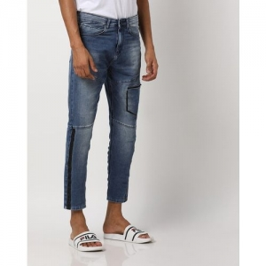 SPYKAR Panelled Lightly Washed Skinny Fit Cropped Jeans
