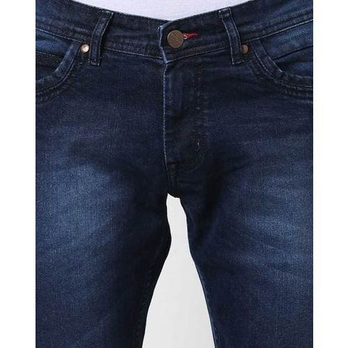 High Star Lightly Washed Mid-Rise Slim Fit Jeans