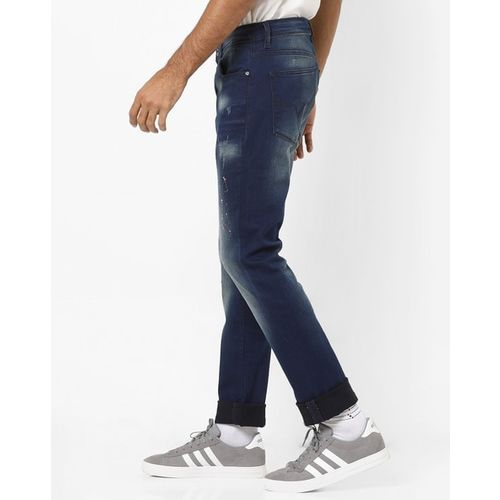 Pepe Jeans Low-Rise Slim Fit Washed Denim Jeans