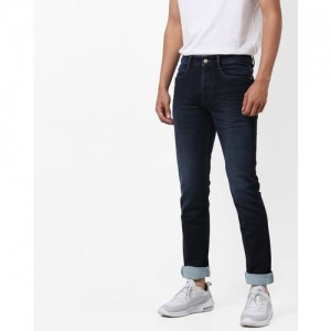 AJIO Light-Wash Tapered Jeans