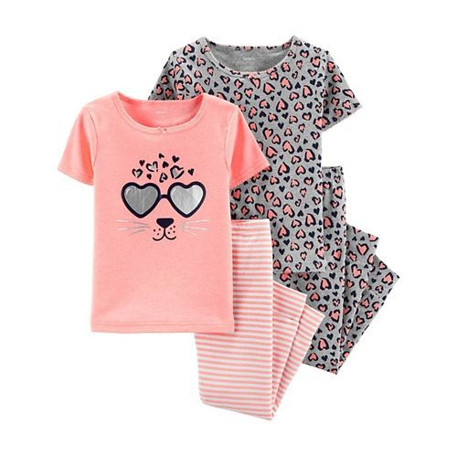 Carter's 4-Piece Leopard Snug Fit Cotton PJs