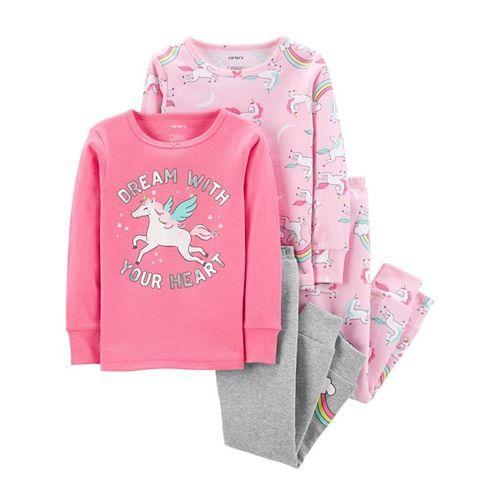 Carter's 4-Piece Unicorn Snug Fit Cotton PJs - Pink