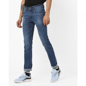 AJIO Washed Low-Rise Slim Tapered Jeans